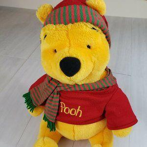 Winnie the Pooh Vintage Sitting Plush Disney Scarf